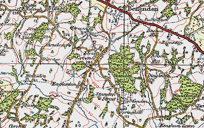 Old map of Iden Green in 1921