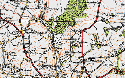 Old map of Idless in 1919