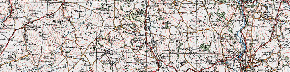Old map of Winneyhill in 1921