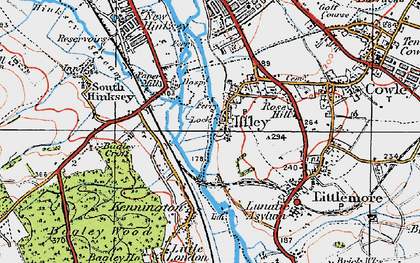 Old map of Iffley in 1919