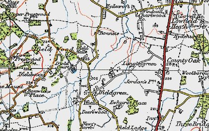 Old map of Ifield Court in 1920