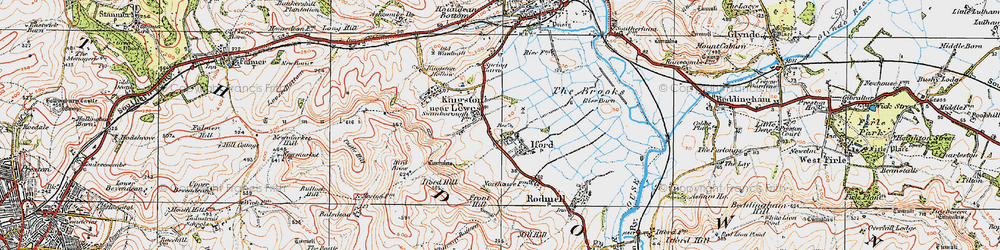 Old map of Iford in 1920