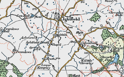 Old map of Ashacres in 1921
