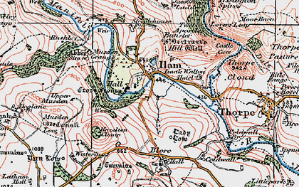 Old map of Ilam in 1921
