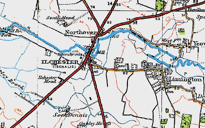 Old map of Ilchester in 1919