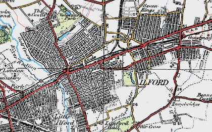 Old map of Ilford in 1920