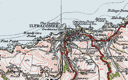 Old map of Langleigh in 1919