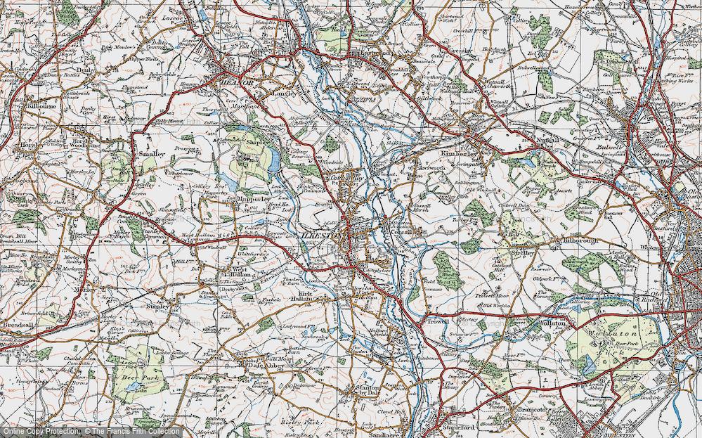 Old Map of Ilkeston, 1921 in 1921