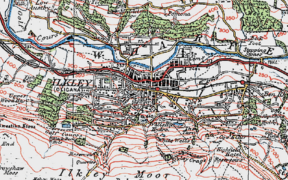 Old map of White Wells in 1925