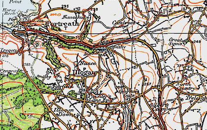 Old map of Illogan in 1919