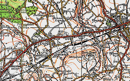 Old map of Illogan Highway in 1919