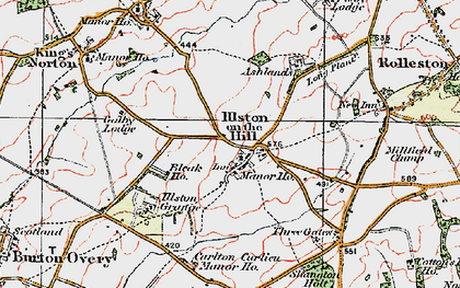 Old map of Ashlands in 1921