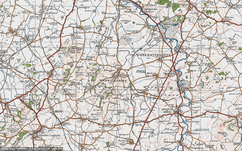 Old Map of Ilmington, 1919 in 1919