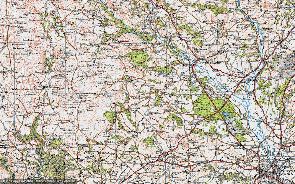 Old Map of Historic Map covering Lenda in 1919