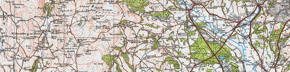 Old map of Willis's Cross in 1919