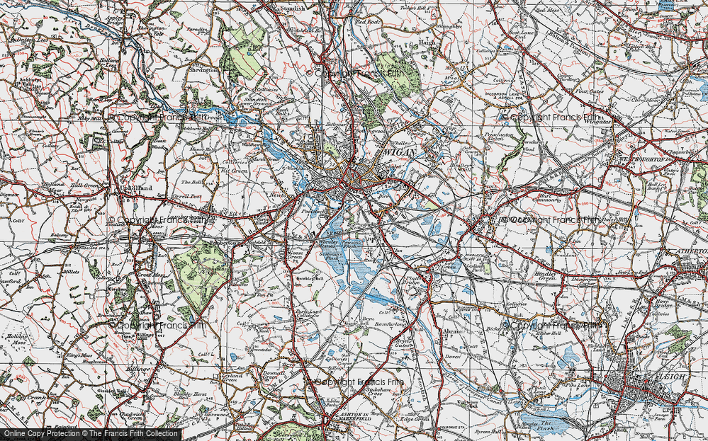 Old Map of Ince in Makerfield, 1924 in 1924