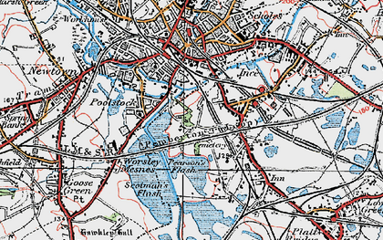 Old map of Ince in Makerfield in 1924
