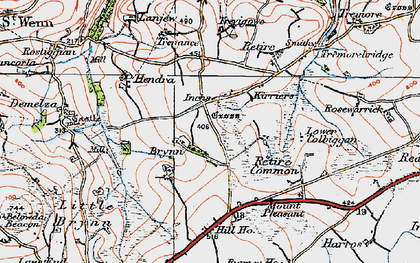 Old map of Inchs in 1919