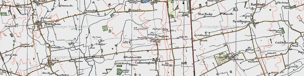 Old map of Ingham in 1923