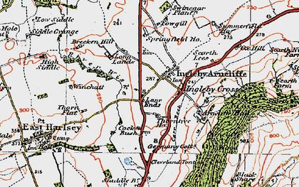 Old map of Winchatt in 1925