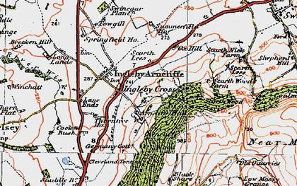 Old map of Ingleby Cross in 1925