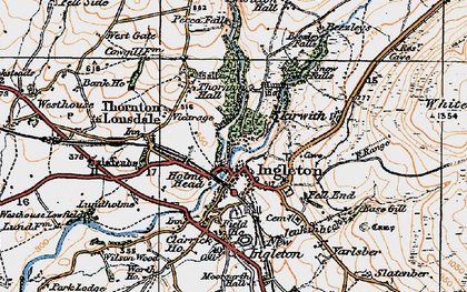 Old map of White Scar Cave in 1924