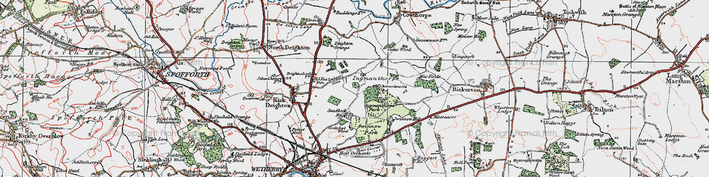 Old map of Willowgarth Plantn in 1925