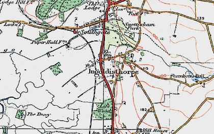 Old map of Ingoldisthorpe in 1922