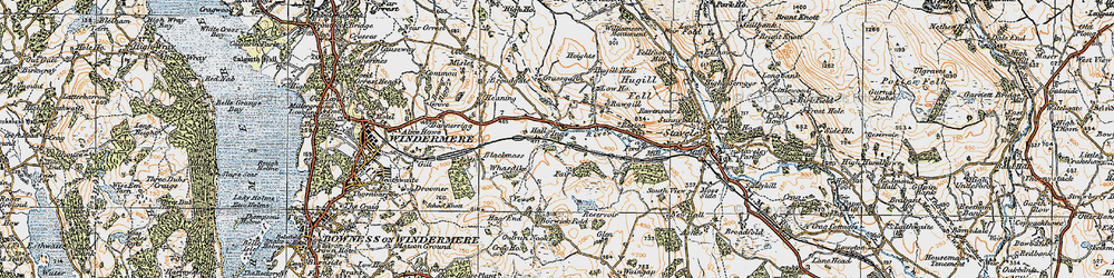 Old map of Whasdike in 1925