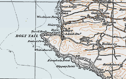 Old map of Yeovil Rock in 1919