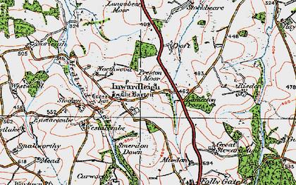 Old map of Langabeare Barton in 1919