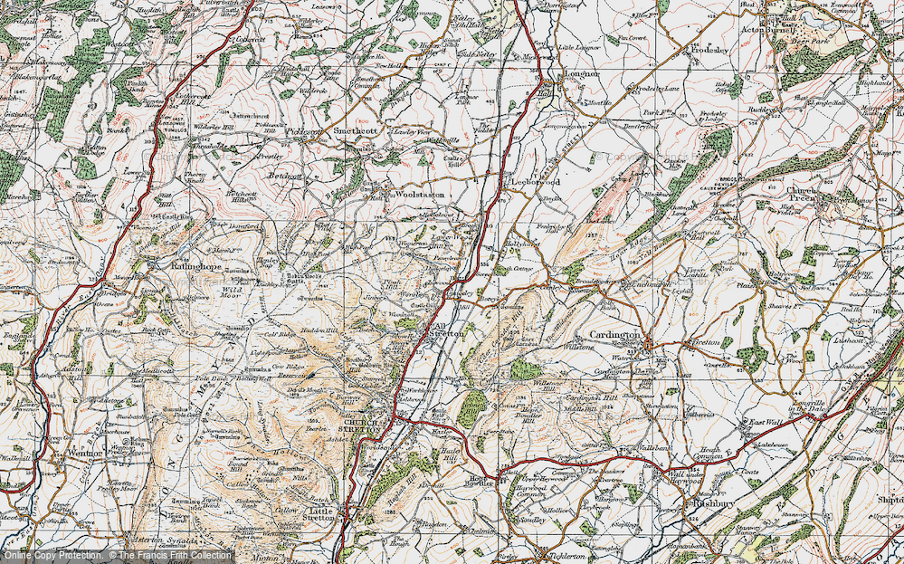 Old Map of Historic Map covering Worsley in 1921