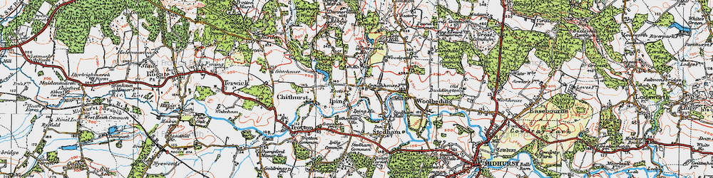 Old map of Iping in 1919