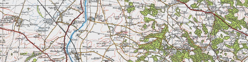 Old map of Wicks Hill in 1919
