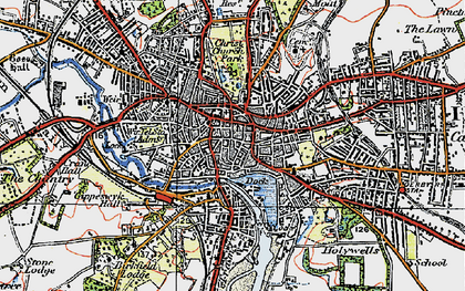 Old map of Ipswich in 1921