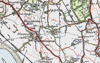 Old map of Irby in 1924
