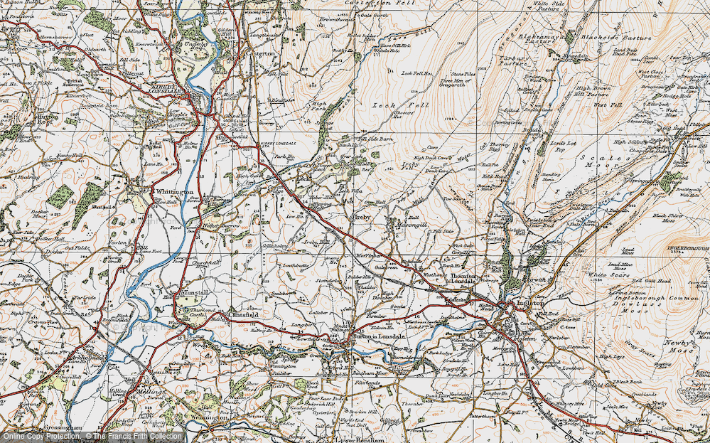 Old Map of Ireby, 1925 in 1925