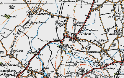Old map of Algars Manor in 1919