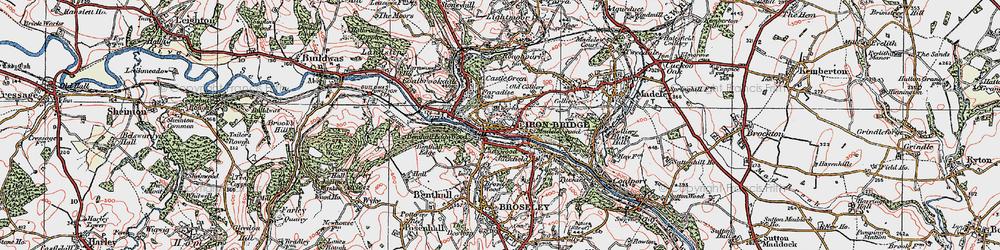 Old map of Ironbridge in 1921