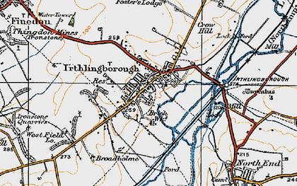 Old map of Irthlingborough in 1919