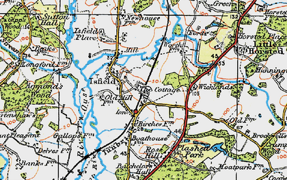 Old map of Wicklands in 1920