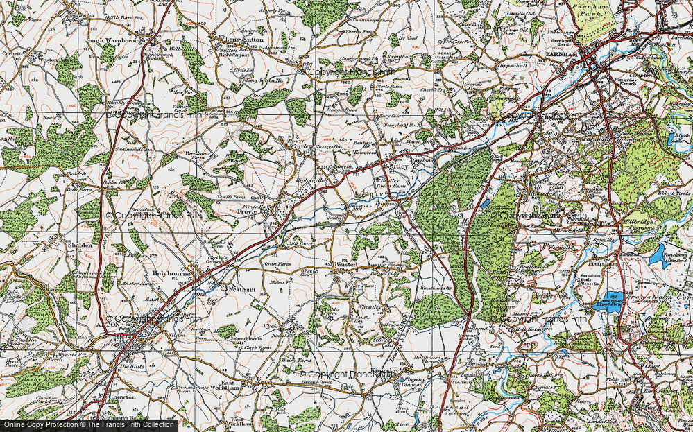 Old Map of Isington, 1919 in 1919