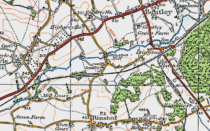 Old map of Isington in 1919