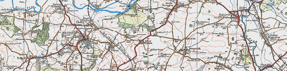 Old map of Ambro Hill in 1921