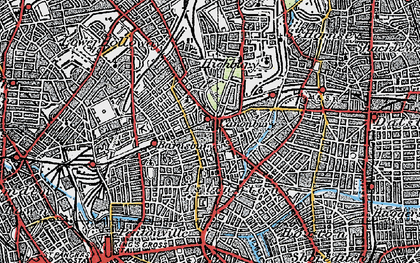 Old map of Islington in 1920