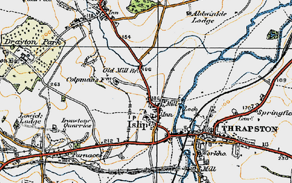 Old map of Islip in 1920