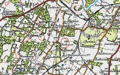 Old map of Toat Hill in 1920