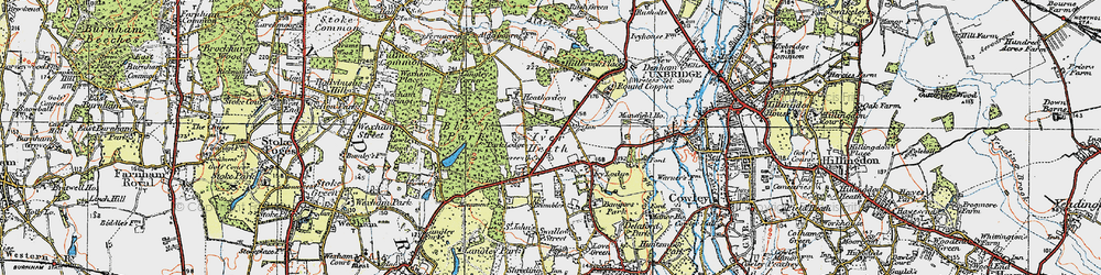 Old map of White Lo in 1920