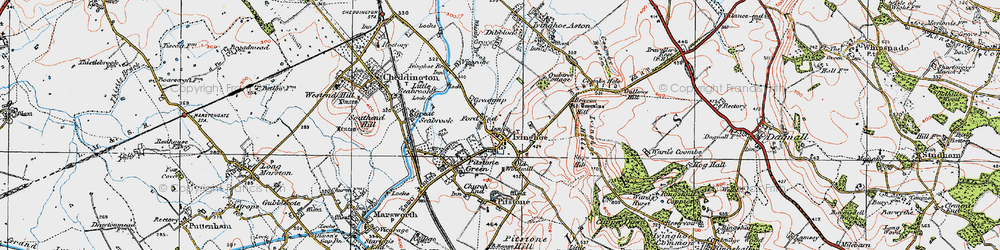 Old map of Whistle Brook in 1920