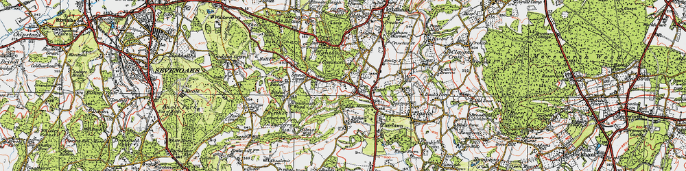 Old map of Ivy Hatch in 1920